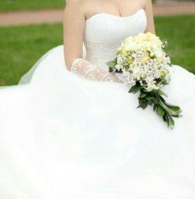 Свадебное платье Lorange цвет айвори+подвязка
