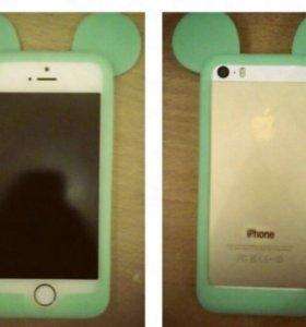 Бампер силиконовый Mickey Mouse для iPhone 5/5s