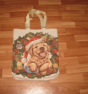 """Гобеленовая сумка """"Рождественский венок"""""""