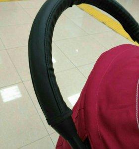 Чехол на ручку коляски экокожа