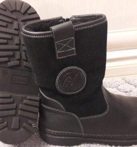 Зимние сапоги/ботинки из натуральной кожи 37р.