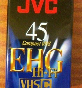 Кассета для видеокамеры JVC 45 VHS Pal Secam