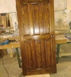 Двери входные деревянные из массива сосны