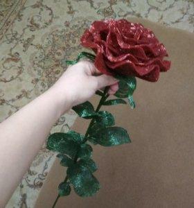 Роза из бисера и рубки