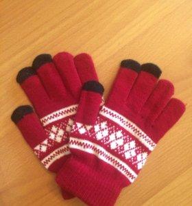 Перчатки для телефонов.