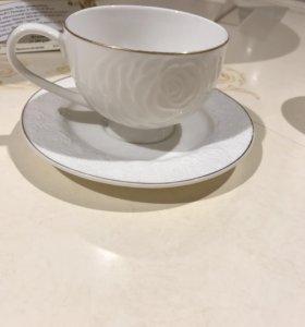 Чайный набор: 6 чашек и 6 блюдец