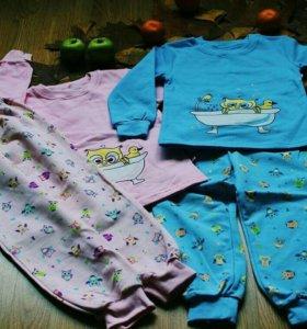 Пижама для девочек с совой новые!!!