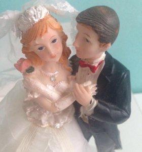 Фигурки на свадебный торт Жених и невеста