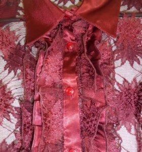 Кружевная блузка с топом