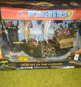 Большой пиратский корабль