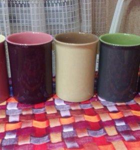 Набор из 5 чашек с подставкой