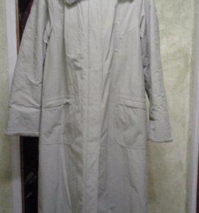 Пальто утепленное длинное женское, 52 размер