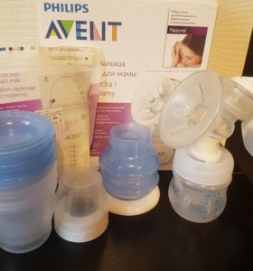 Молокоотсос avent +пакеты для замарозки и вкладыши
