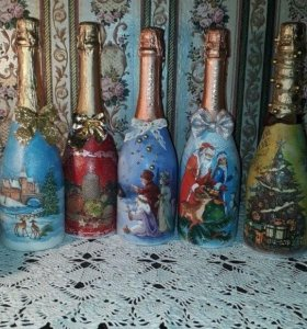 Бутылочки на заказ.скоро новый год.)))☃🎄🎄🎄☃