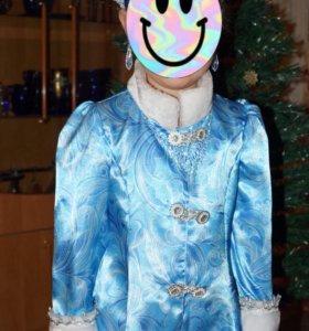 Новогодний костюм «снегурочка» р-р 116-122