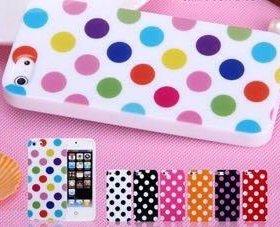 Силиконовый чехол для iPhone 5/5s Горошек