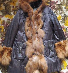 Куртка натуральная лиса и кролик