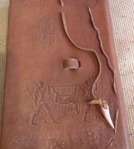 Ежедневник из натуральной кожи в этническом стиле