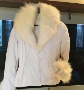 Куртка женская зимняя на меху. ( кролик , лиса)