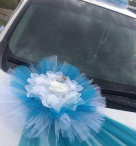 Свадебный наряд на машину