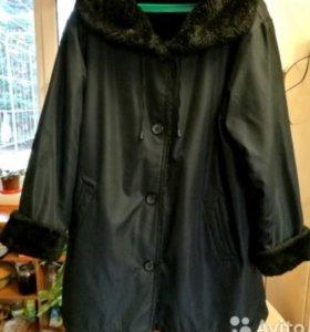 Куртка чёрная женская XL