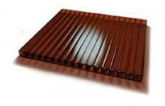 Сотовый поликарбонат 4мм терракот (коричневый)