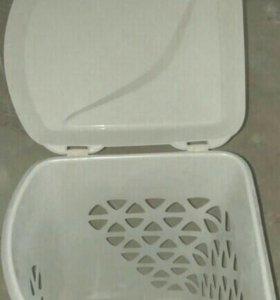 Корзина для белья пластиковая