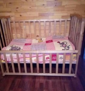 Кровать детская+ матрас