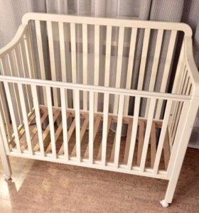 Детская кроватка с матрасом Икеа ВИССА СОМНАТ