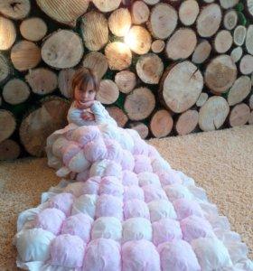 Одеялки детские в технике бомбон и пэчворк