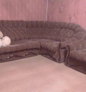 диван угловой и кресло кровать