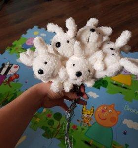 Игрушки зайцы из букета на проволке
