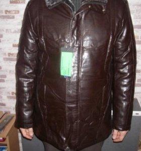Новая кожаная куртка на меху Kaili. зима/осень