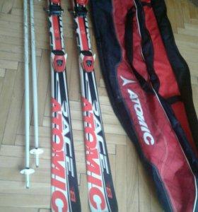 Горные лыжи(комплект)