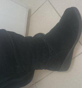 замшевые зимние ботинки