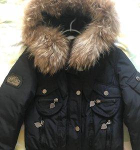 Новая куртка с мехом песца