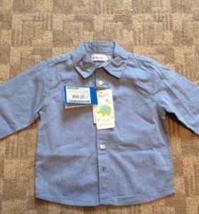 Детская рубашка 100 хб, 92 размер
