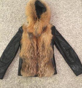 Куртка кожаная-трансформер