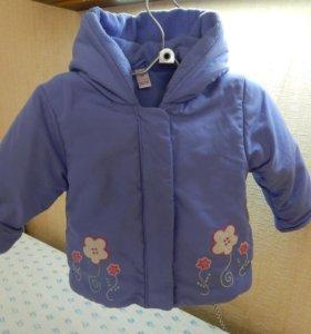 Демисезонная куртка для малышки 2-3 лет
