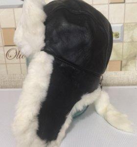 Зимняя шапка натуральная кожа и мех.