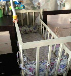Приставная детская кроватка