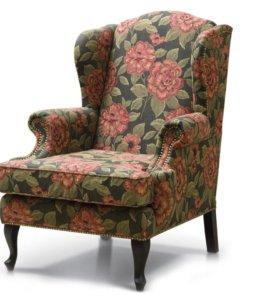 Кресло. Обивка старых кресел и мебели