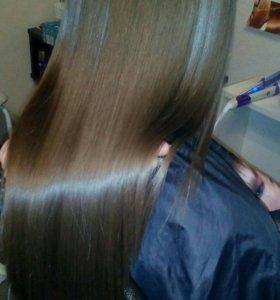 Кератиновое выпрямление . Боттокс волос