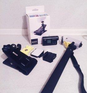 Камера Sony HDR-AS20 , монопод, clip mount