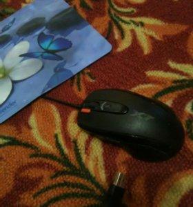 Мышь игровая х7 + коврик