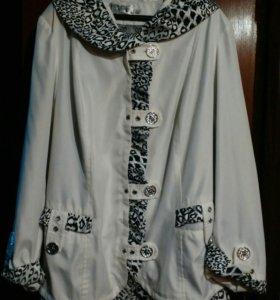 Красивейшая,легкая курточка,р.56