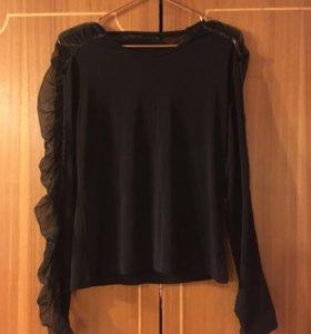 Нарядная чёрная блуза