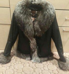 Кожаная куртка р 48-50