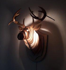 Олень светильник