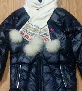 Пуховое пальто adidas для девочки рост 122-128